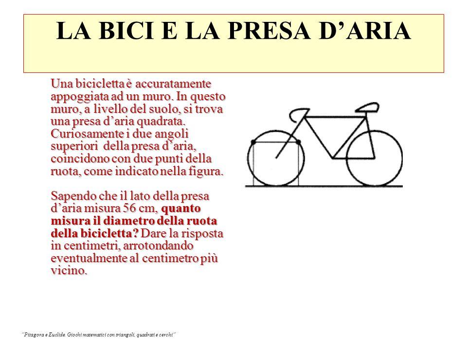 LA BICI E LA PRESA D'ARIA Una bicicletta è accuratamente appoggiata ad un muro.