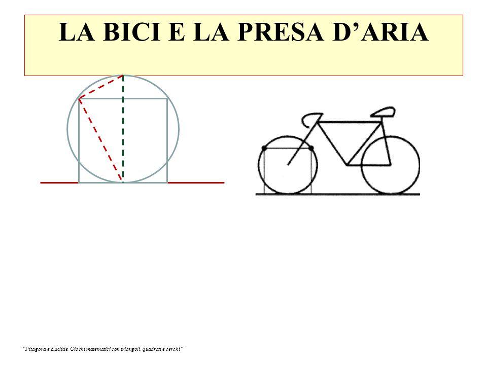 LA BICI E LA PRESA D'ARIA Pitagora e Euclide. Giochi matematici con triangoli, quadrati e cerchi