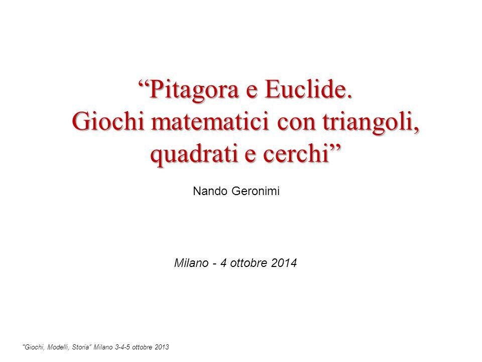 Pitagora e Euclide.