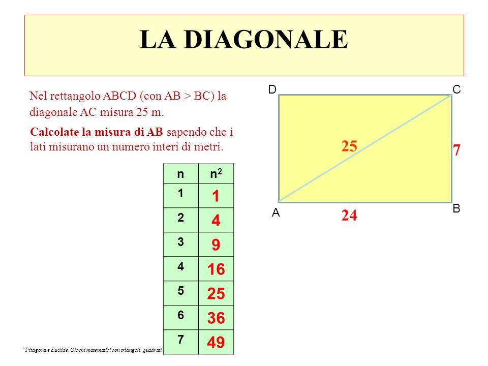 LA DIVISIONE DI EUGENIO AB = 13 √63 m AC = 15 √63 m BC = 14 √63 m Perché non AB = 39 √7 m AC = 45 √7 m BC = 42 √7 m.
