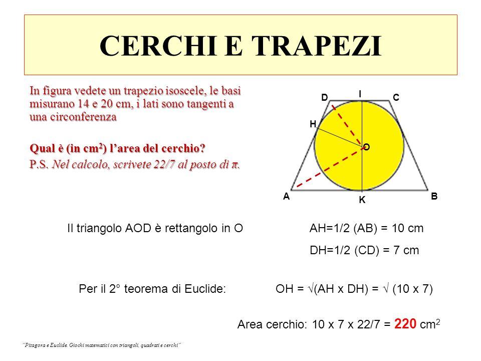 UN QUADRILATERO NEL QUADRATO I triangoli AFD e GFB sono simili e il loro rapporto di similitudine è ½; allora: HF = ½ FN, e HF=1/3 HN.