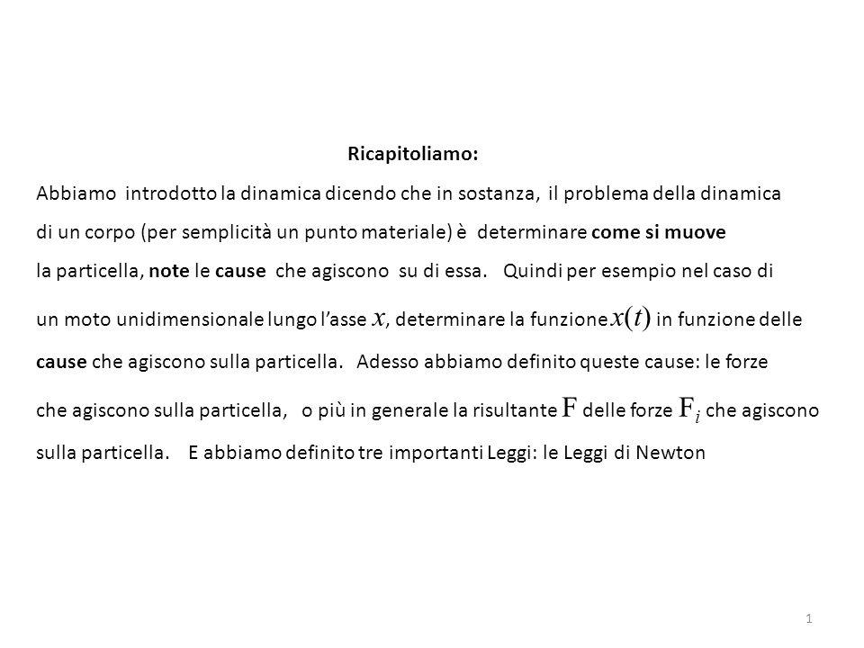 22 Si osserva che la forza di attrito f è proporzionale alla forza normale N che mantiene a contatto la massa in questione con la superficie su cui si trova.
