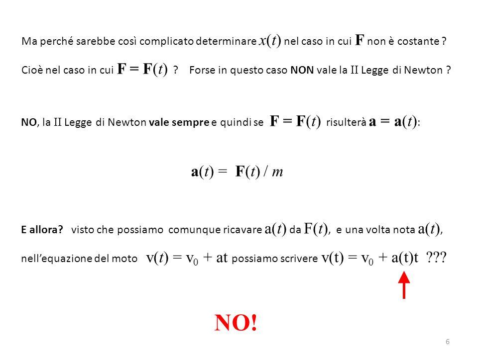 17 F = F 1  a = 0 F = F 2  a = 0 F = F 3  a = 0 F = F 4  a ≠ 0 Supponiamo di applicare una forza F 1 ad un corpo posizionato su di una superficie non perfettamente liscia: Non succede niente .