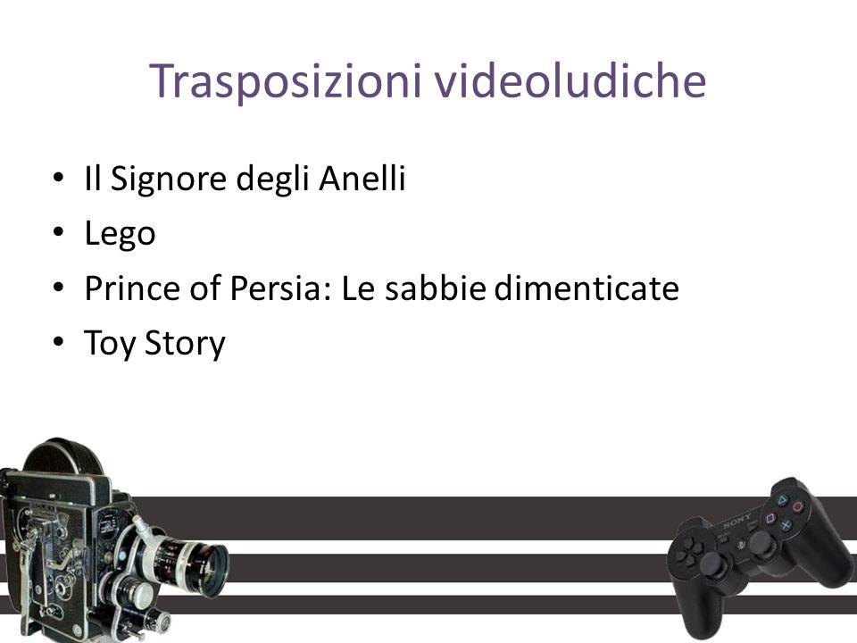Trasposizioni videoludiche Il Signore degli Anelli Lego Prince of Persia: Le sabbie dimenticate Toy Story