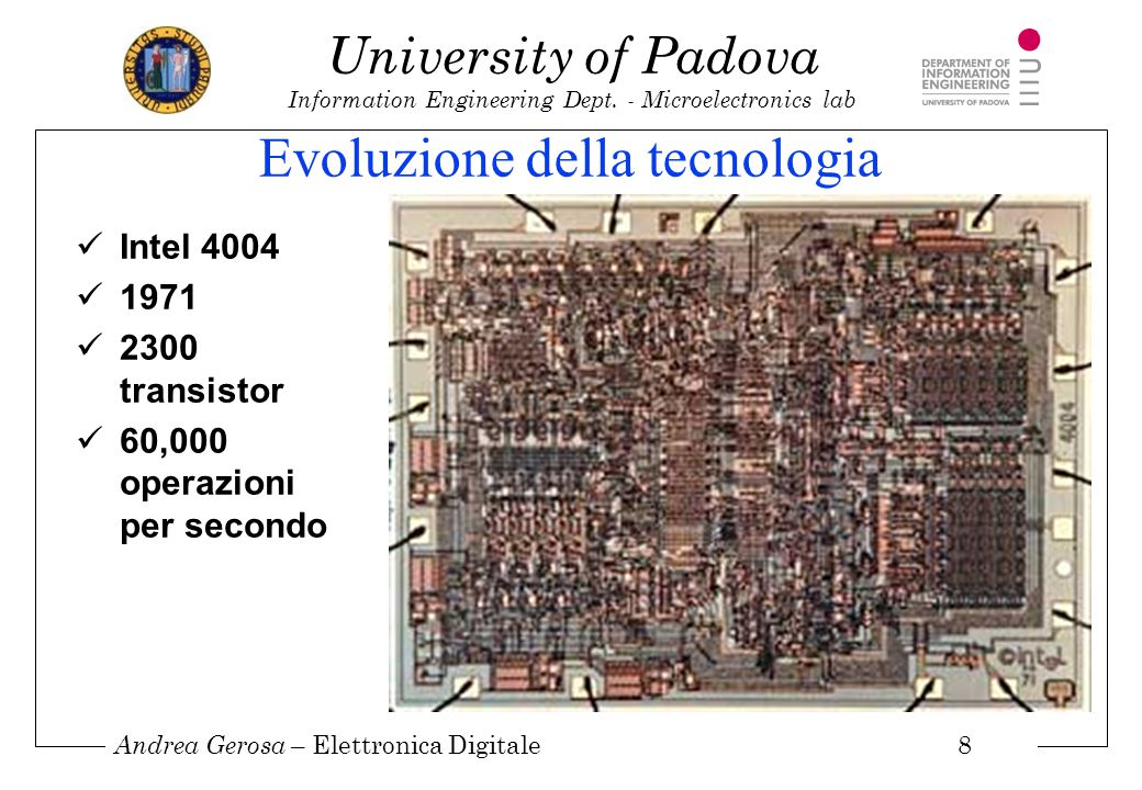 Andrea Gerosa – Elettronica Digitale 9 University of Padova Information Engineering Dept.