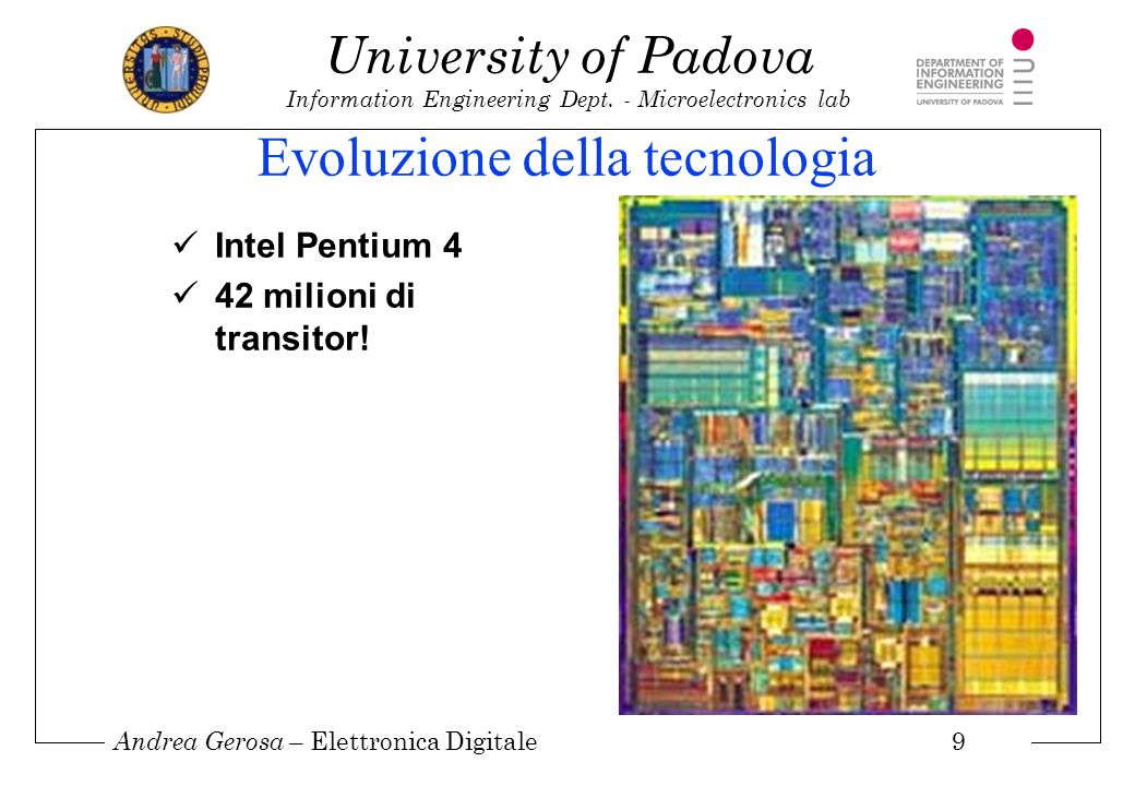 Andrea Gerosa – Elettronica Digitale 10 University of Padova Information Engineering Dept.
