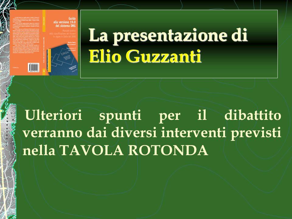 Ulteriori spunti per il dibattito verranno dai diversi interventi previsti nella TAVOLA ROTONDA La presentazione di Elio Guzzanti