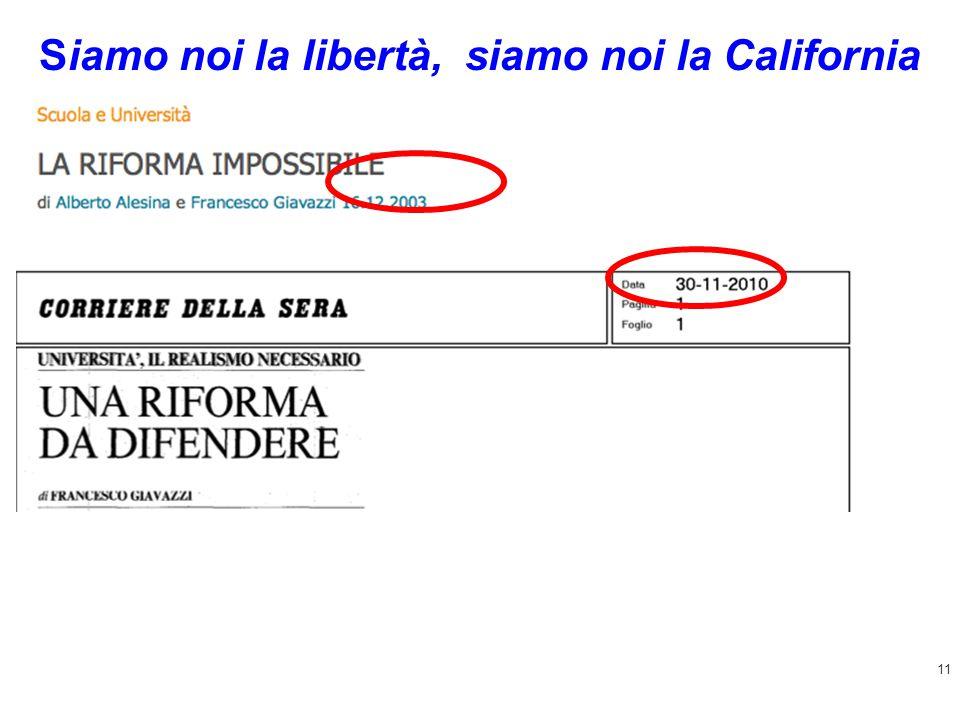 11 Siamo noi la libertà, siamo noi la California