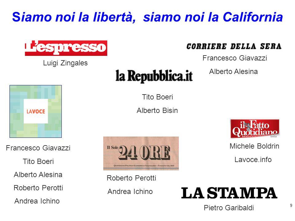 10 http://www.lavoce.info/articoli/pagina821-351.html Siamo noi la libertà, siamo noi la California