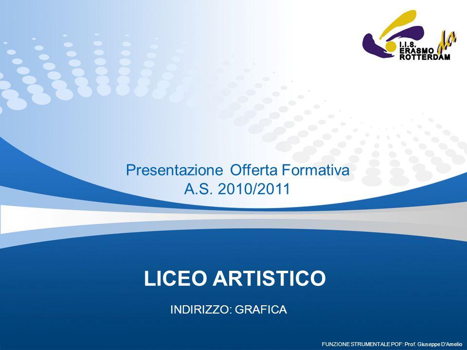 LICEO ARTISTICO INDIRIZZO: GRAFICA Presentazione Offerta Formativa A.S. 2010/2011 FUNZIONE STRUMENTALE POF: Prof. Giuseppe D'Amelio