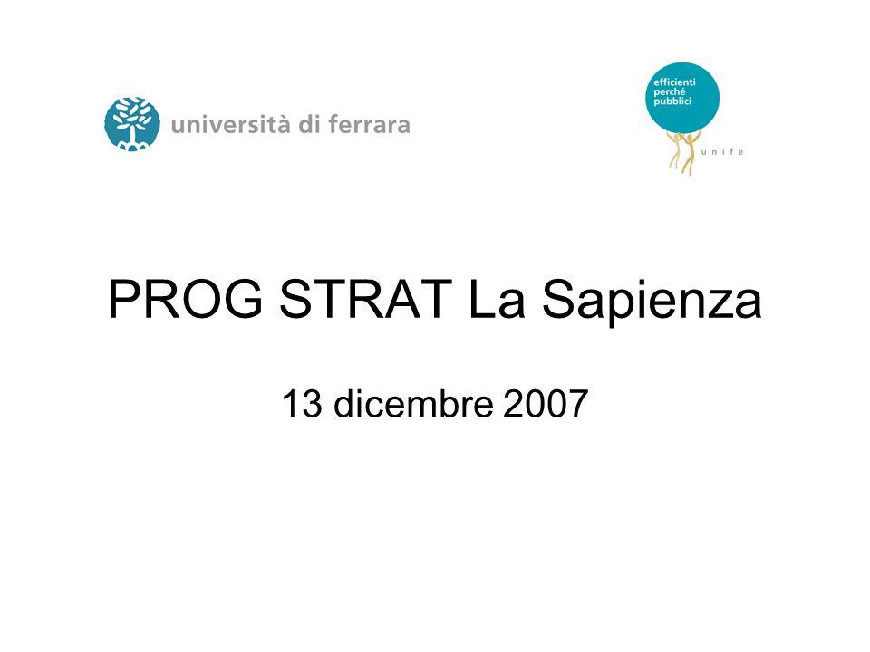PROG STRAT La Sapienza 13 dicembre 2007
