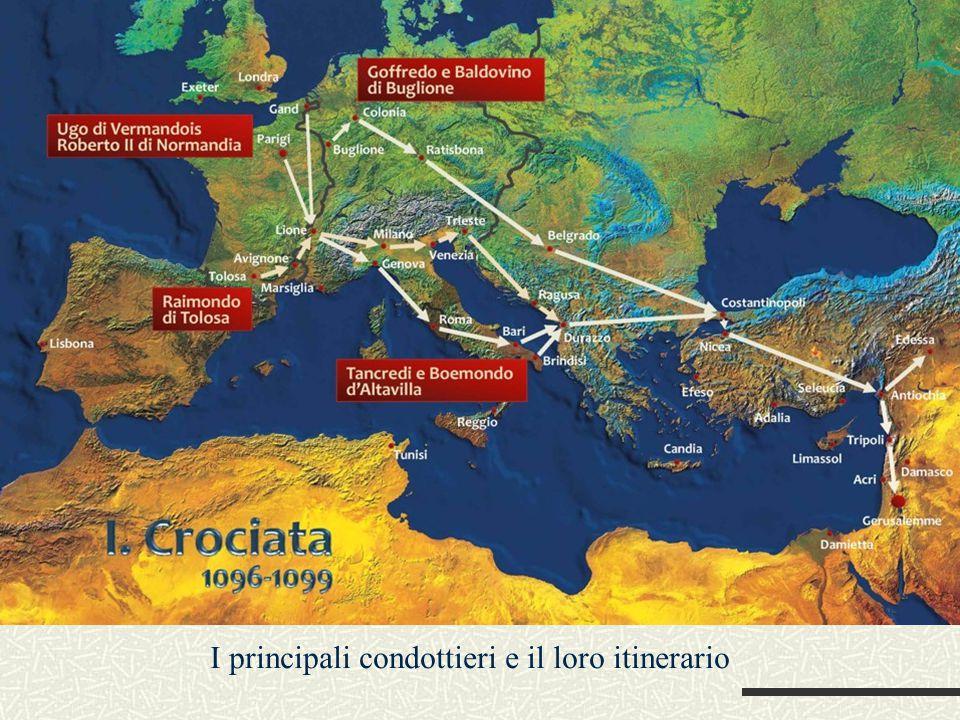 I principali condottieri e il loro itinerario