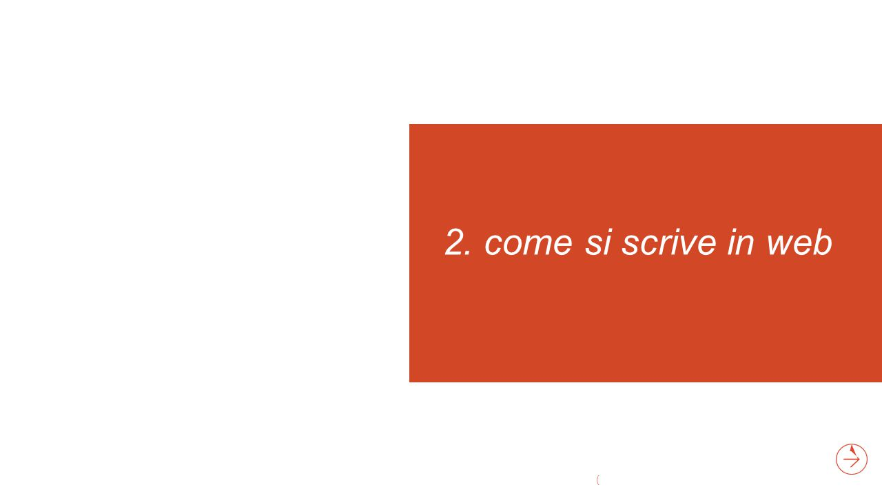 2. come si scrive in web (