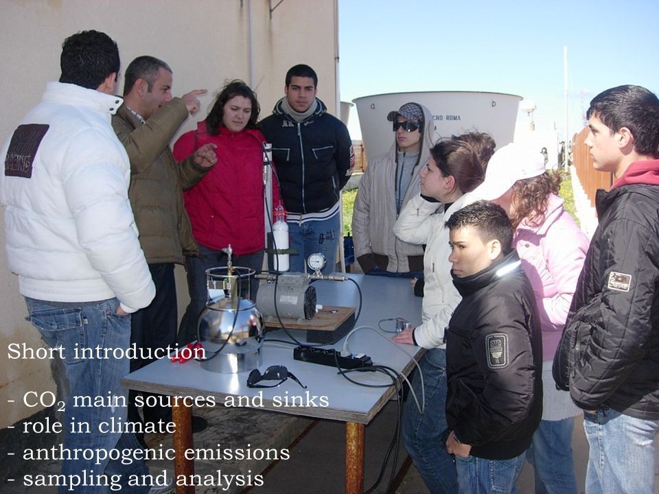 Short introduction - CO 2 main sources and sinks - role in climate - anthropogenic emissions - sampling and analysis