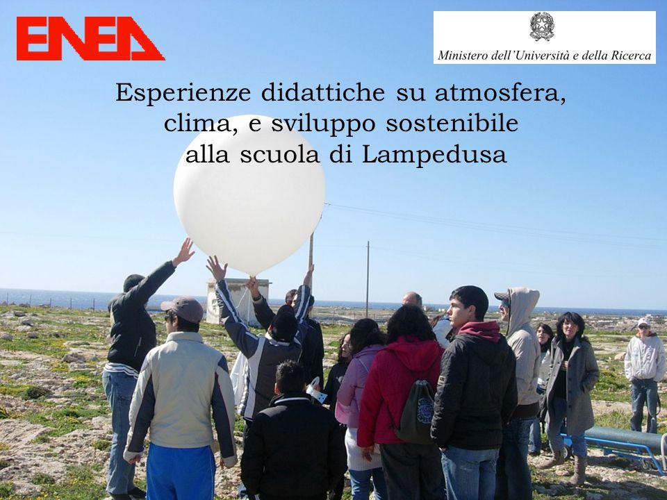 Esperienze didattiche su atmosfera, clima, e sviluppo sostenibile alla scuola di Lampedusa