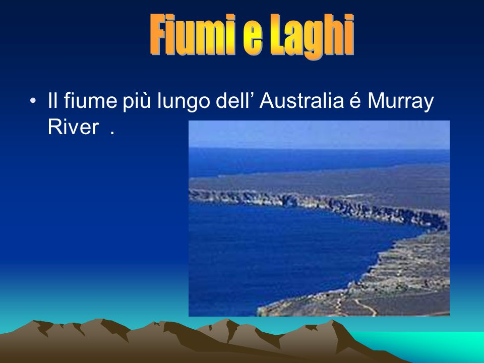 Il fiume più lungo dell' Australia é Murray River.