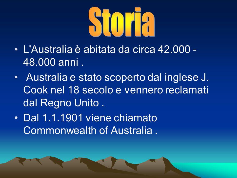 L Australia è abitata da circa 42.000 - 48.000 anni.
