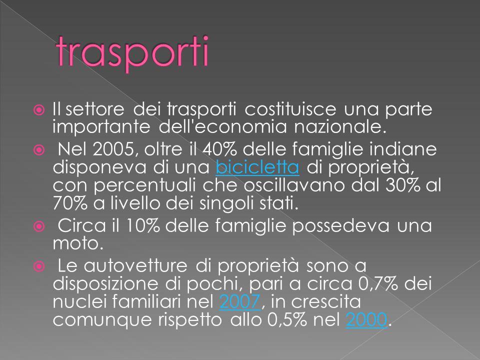  Il settore dei trasporti costituisce una parte importante dell economia nazionale.