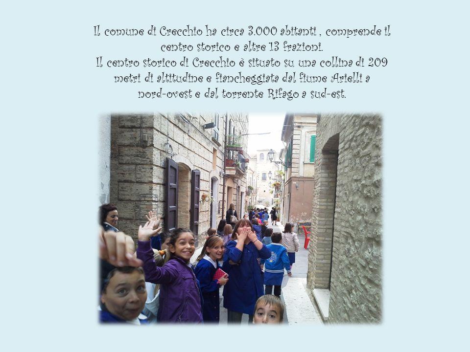 Il comune di Crecchio ha circa 3.000 abitanti, comprende il centro storico e altre 13 frazioni.