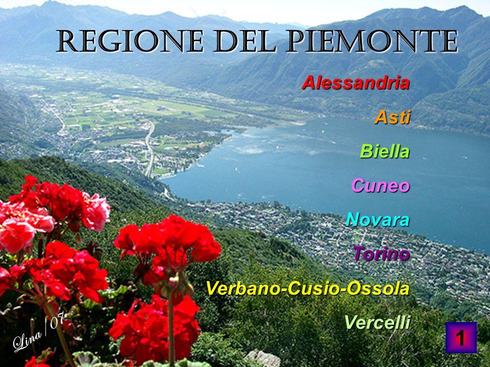 Lina/07 Regione del Piemonte Alessandria Asti Biella Cuneo Novara Torino Verbano-Cusio-Ossola Vercelli 1