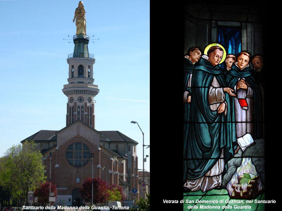 Santuario della Madonna della Guardia, Tortona Vetrata di San Domenico di Guzman, nel Santuario della Madonna della Guardia