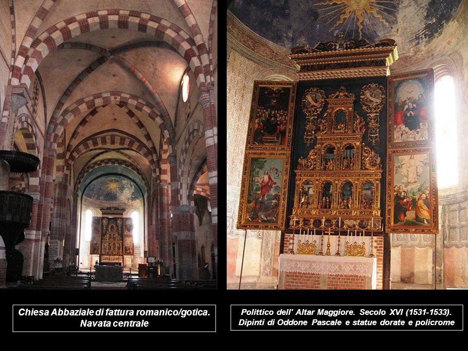 Chiesa Abbaziale di fattura romanico/gotica.Navata centrale Polittico dell Altar Maggiore.