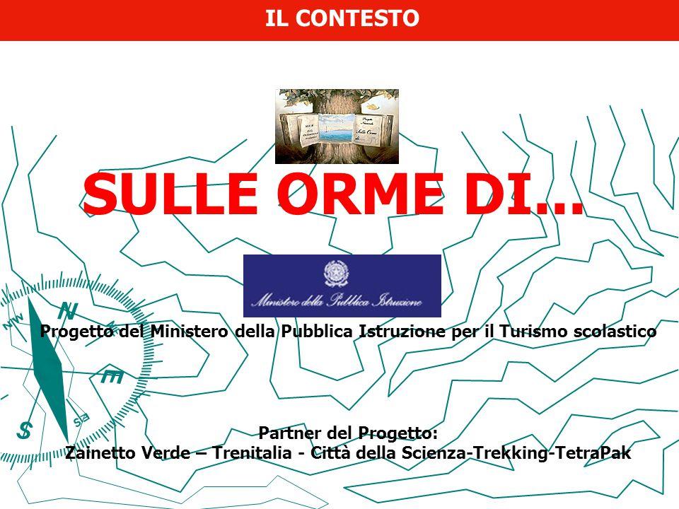 SULLE ORME DI... Progetto del Ministero della Pubblica Istruzione per il Turismo scolastico Partner del Progetto: Zainetto Verde – Trenitalia - Città