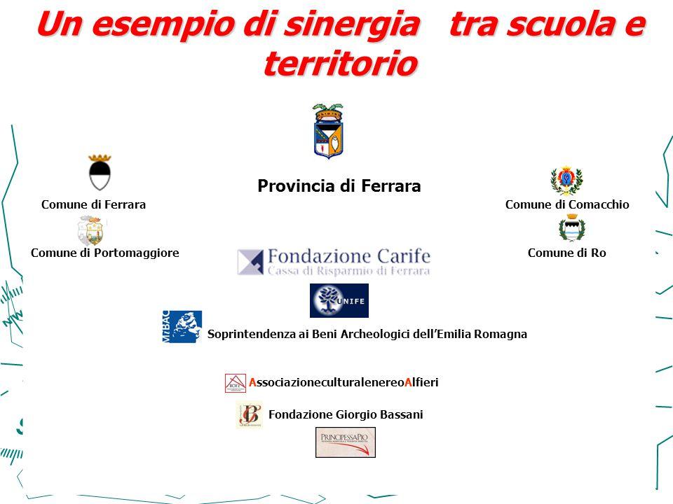 Un esempio di sinergia tra scuola e territorio Provincia di Ferrara Comune di Ferrara Comune di Comacchio Comune di Portomaggiore Comune di Ro Soprint