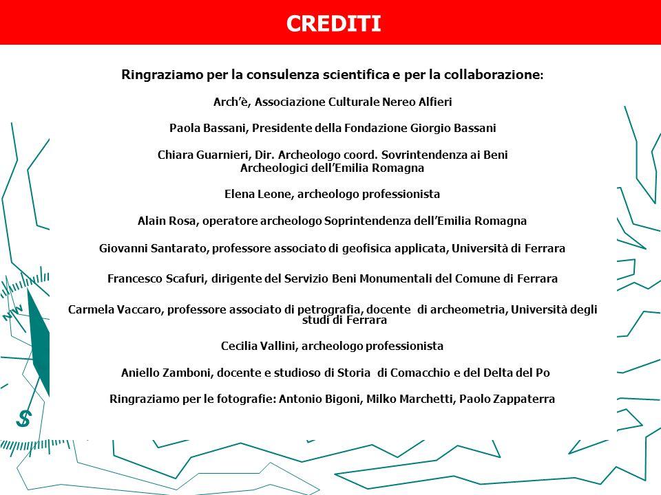CREDITI Ringraziamo per la consulenza scientifica e per la collaborazione : Arch'è, Associazione Culturale Nereo Alfieri Paola Bassani, Presidente del