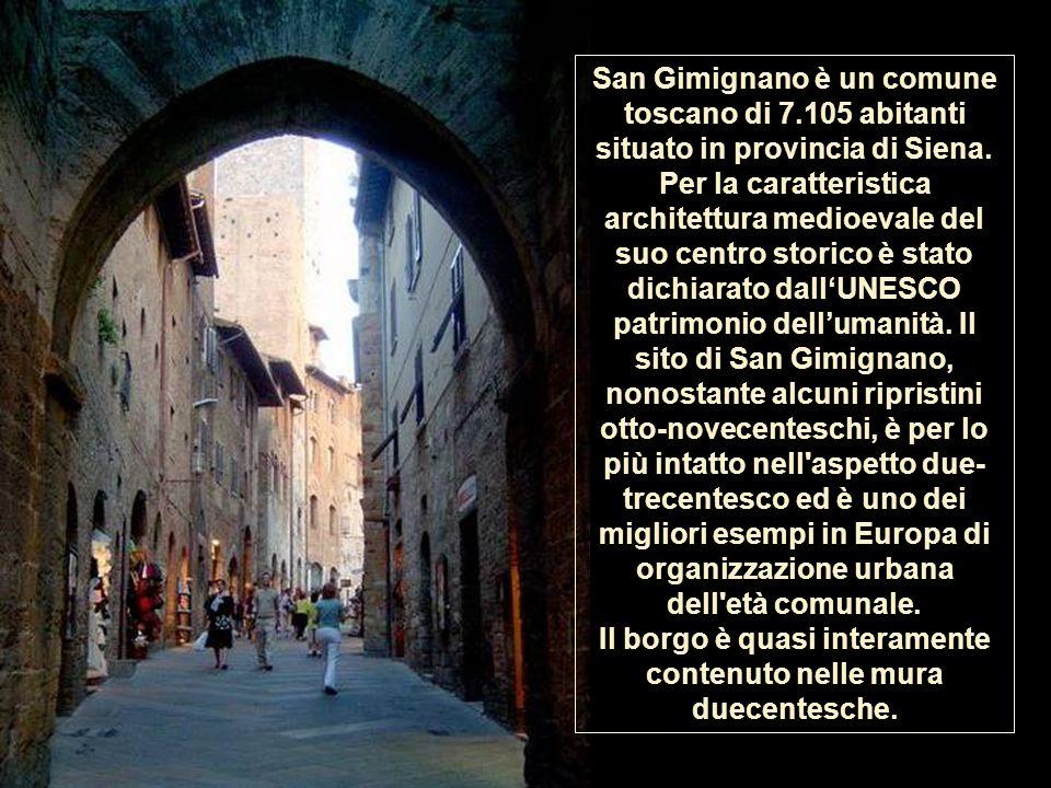 San Gimignano è un comune toscano di 7.105 abitanti situato in provincia di Siena.