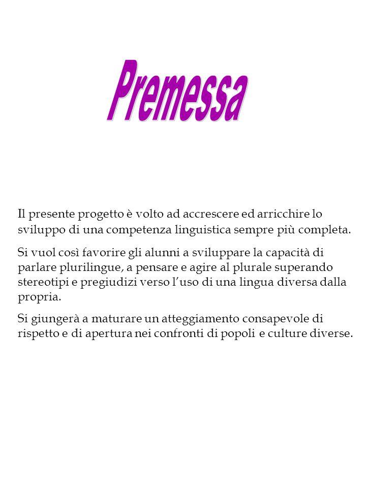 Finalità : Riconoscere l'esistenza di differenti codici linguistici come veicoli di comunicazione.