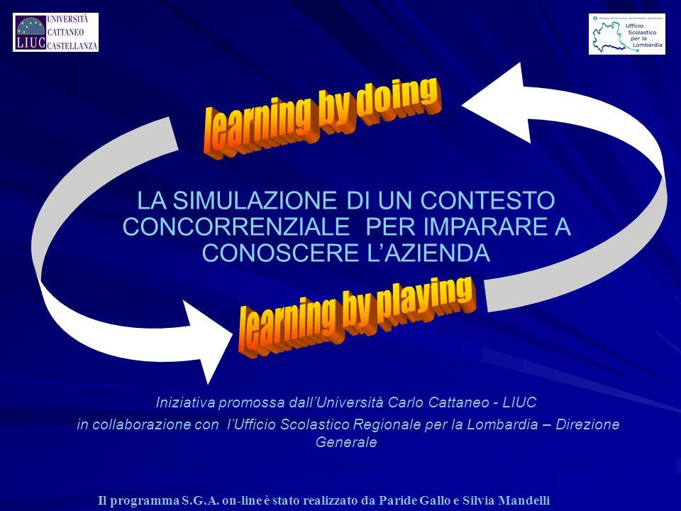 LA SIMULAZIONE DI UN CONTESTO CONCORRENZIALE PER IMPARARE A CONOSCERE L'AZIENDA Iniziativa promossa dall'Università Carlo Cattaneo - LIUC in collabora