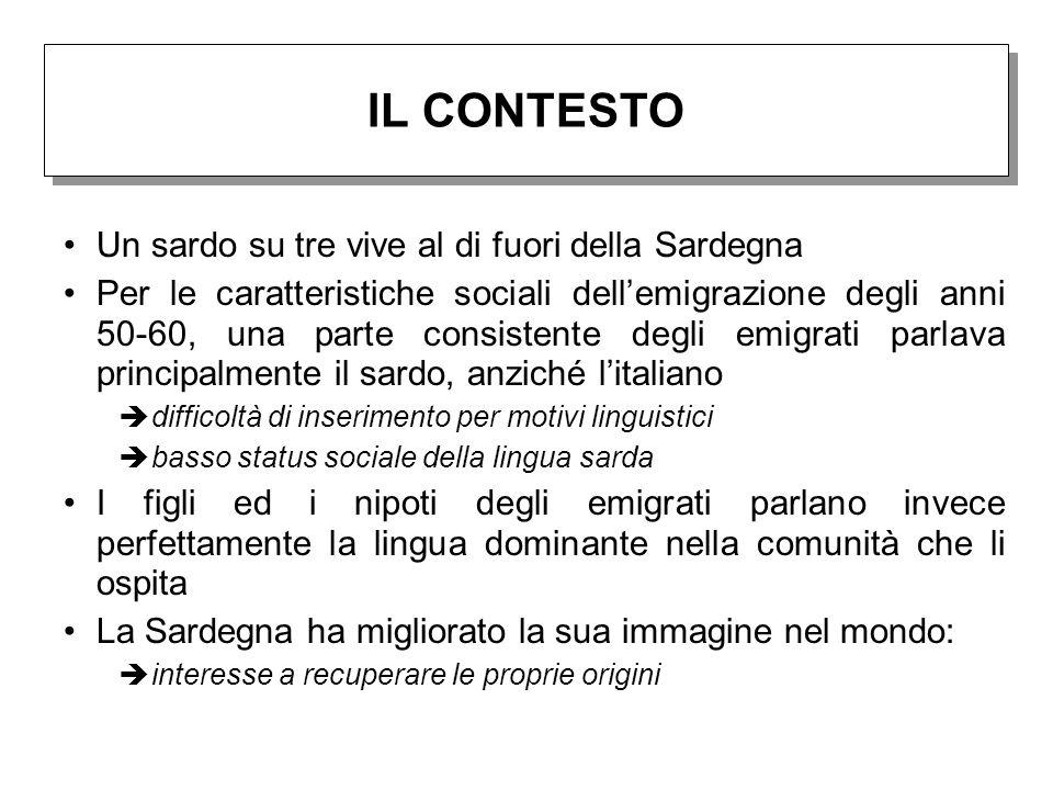 Un sardo su tre vive al di fuori della Sardegna Per le caratteristiche sociali dell'emigrazione degli anni 50-60, una parte consistente degli emigrati