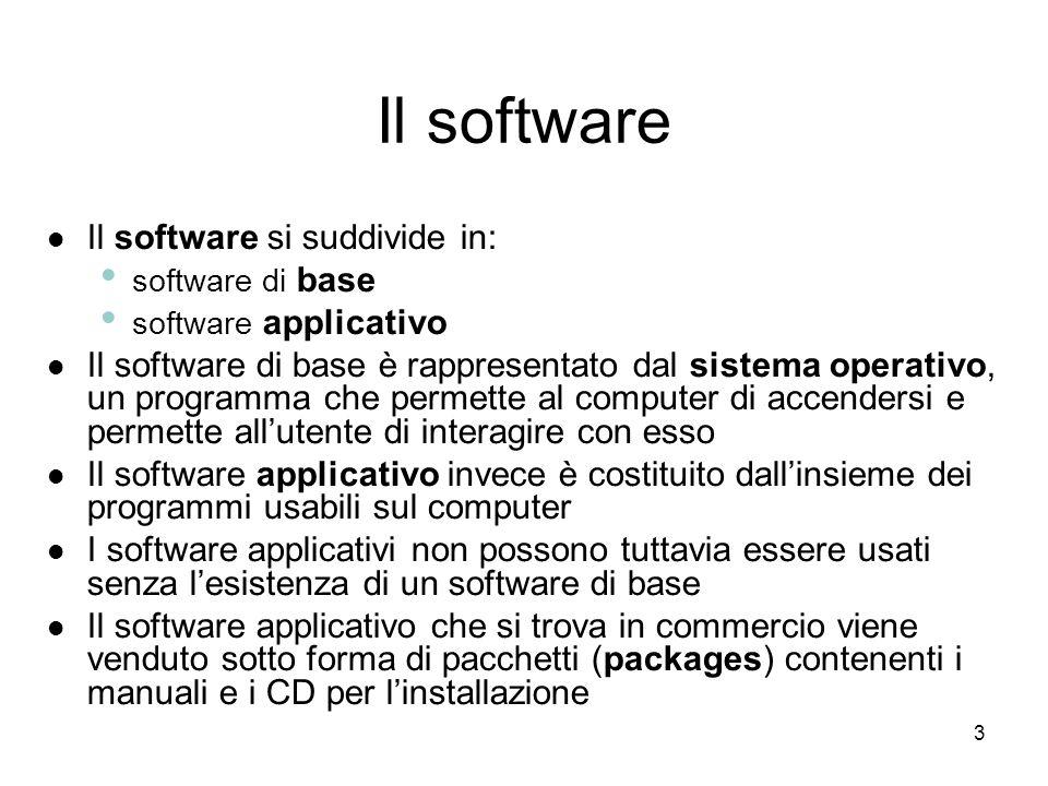 2 In questa lezione impareremo: come il computer funzioni attraverso il software come il computer funzioni attraverso il software a riconoscere i dive