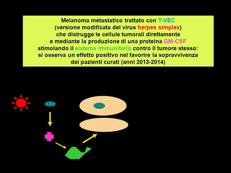 Le cellule tumorali possono avere meccanismi che indeboliscono la risposta immunitaria: tentativo di inattivare cellule dotate di potere immunosoppressore, che possono essere infiltrate tra cellule tumorali, in modo che la stimolazione indotta del sistema immunitario da parte del virus oncolitico possa raggiungere l'effetto di distruggere le cellule tumorali.