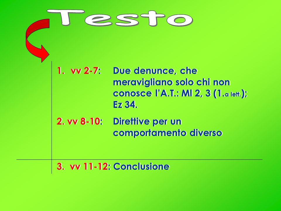 1.vv 2-7: Due denunce, che meravigliano solo chi non conosce l'A.T.: Ml 2, 3 (1.