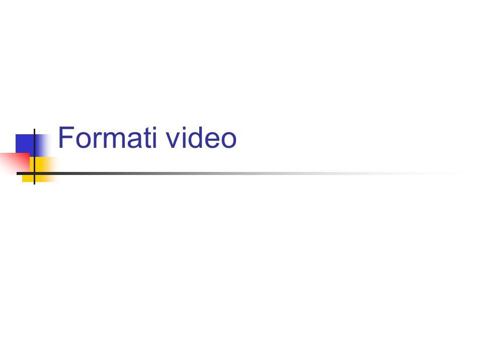 Video come sequenza di immagini Un segnale video può essere visto come la rapida successione di immagini statiche Se le immagini vengono visualizzate con una cadenza sufficientemente rapida, il moto degli oggetti appare fluido