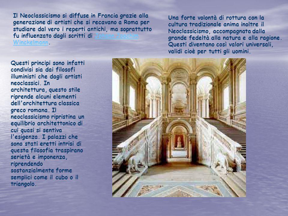 Il Neoclassicismo si diffuse in Francia grazie alla generazione di artisti che si recavano a Roma per studiare dal vero i reperti antichi, ma soprattu