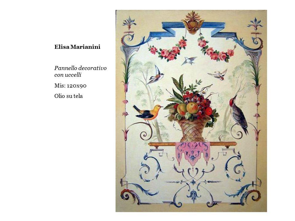 Elisa Marianini Pannello decorativo con uccelli Mis: 120x90 Olio su tela
