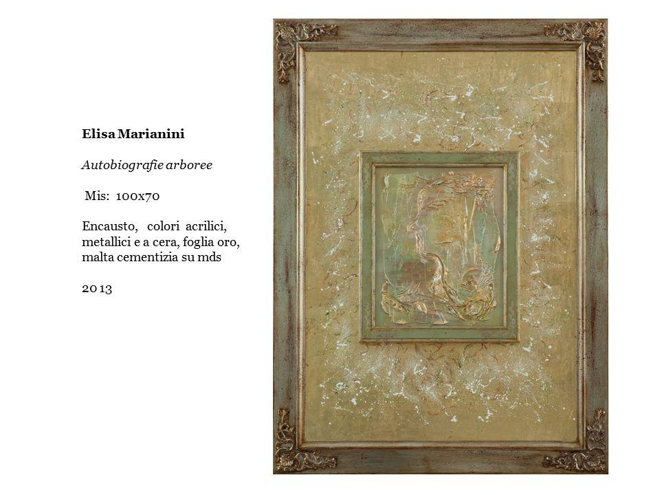 Elisa Marianini Autobiografie arboree Mis: 100x70 Encausto, colori acrilici, metallici e a cera, foglia oro, malta cementizia su mds 20 13
