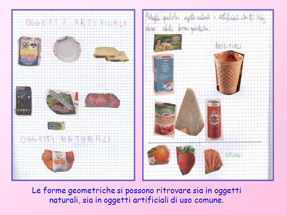Le forme geometriche si possono ritrovare sia in oggetti naturali, sia in oggetti artificiali di uso comune.