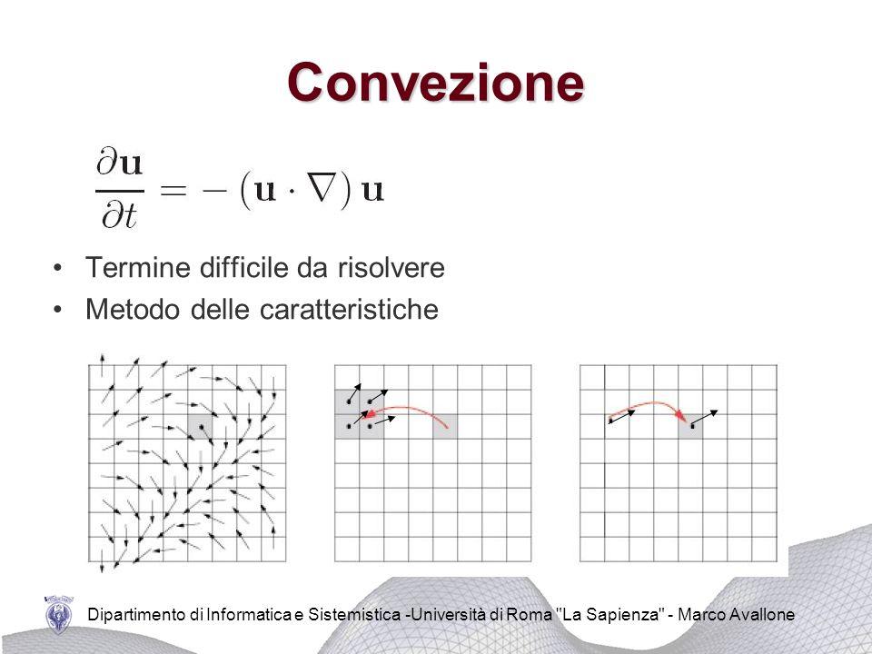 Dipartimento di Informatica e Sistemistica -Università di Roma La Sapienza - Marco Avallone Metodo di Eulero all'indietro Viscosità Si ottiene un sistema lineare di equazioni del tipo Metodo dei gradienti coniugati