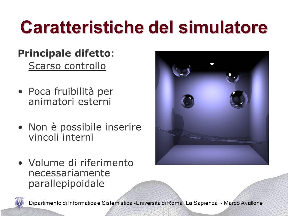 Dipartimento di Informatica e Sistemistica -Università di Roma La Sapienza - Marco Avallone