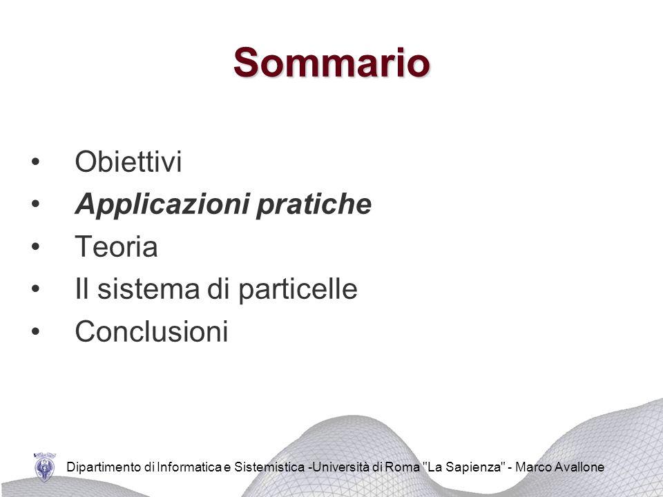Dipartimento di Informatica e Sistemistica -Università di Roma La Sapienza - Marco Avallone Studio della dinamica dei fluidi attorno a veicoli in movimento Applicazioni pratiche