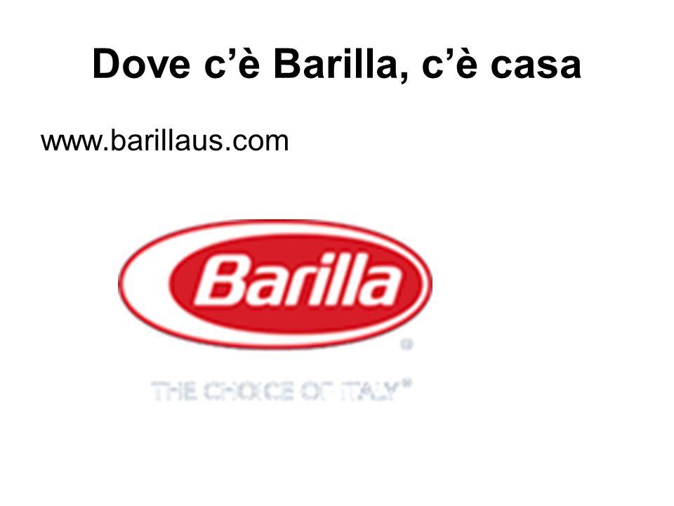 Dove c'è Barilla, c'è casa www.barillaus.com
