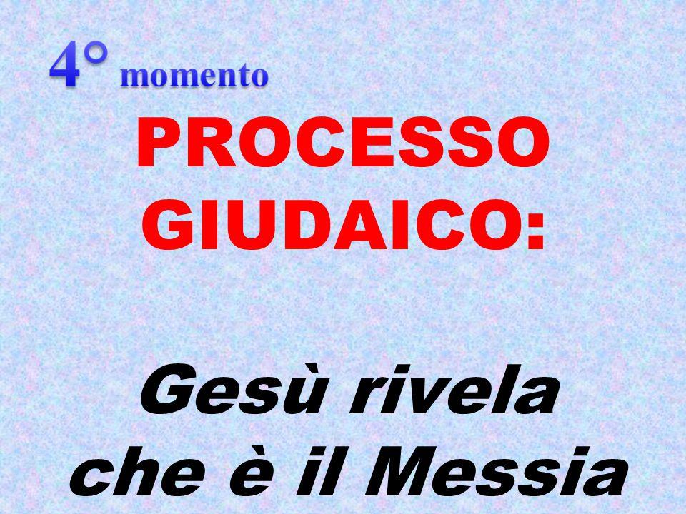 PROCESSO GIUDAICO: Gesù rivela che è il Messia