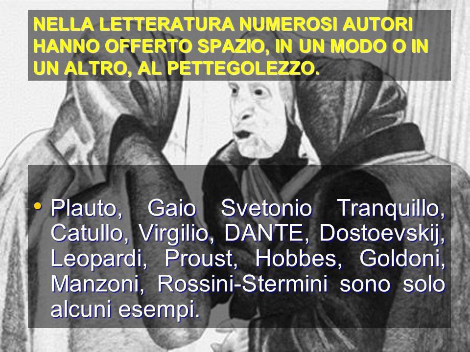 La storia ci racconta che, nei secoli scorsi, a diffamatrici e pettegole erano riservate pene severe e crudeli: Inchiodamento della lingua Inchiodamento della lingua Museruola delle pettegole Museruola delle pettegole Ducking-stool (ordalia, immersione) Ducking-stool (ordalia, immersione) Cucking-stool (esposizione) Cucking-stool (esposizione) Ma la stessa sorte, prima di essere arso vivo, toccò anche, per altre ragioni, a Giordano Bruno.