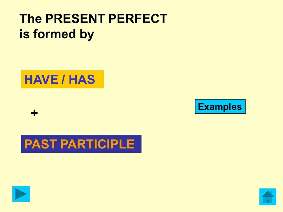 e PRESENTE Definizione generale del Present Perfect: Il Present Perfect è un tempo verbale che mette in relazione PASSATO Ad esempio si usa per indicare un'azione appena successa con l'avverbio JUST