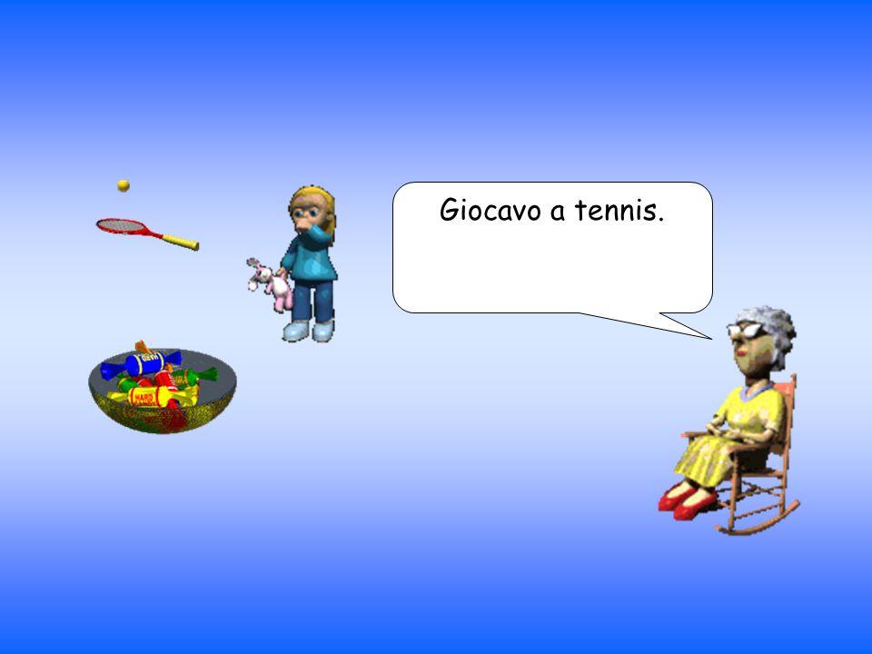 Giocavo a tennis.