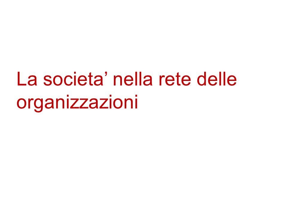 La societa' nella rete delle organizzazioni